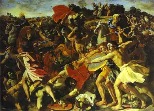Battle of Joshua with Amalekites Nicolas Poussin